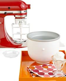 KitchenAid KICA0WH Ice Cream Maker Stand Mixer Attachment