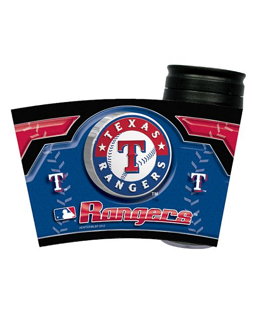 Hunter Manufacturing Texas Rangers 16 oz. Travel Tumbler