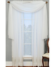 """Miller Curtains Sheer Angelica Volie 56"""" x 216"""" Scarf Valance"""