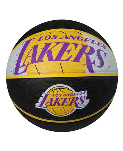Spalding Los Angeles Lakers Size 7 Courtside Basketball