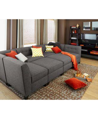Charmant Harper Fabric 6 Piece Modular Sectional Sofa With Ottoman, Created For  Macyu0027s. 63 Reviews. Main Image ...