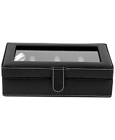 Bey-Berk Leather 12-Piece Cufflinks Box