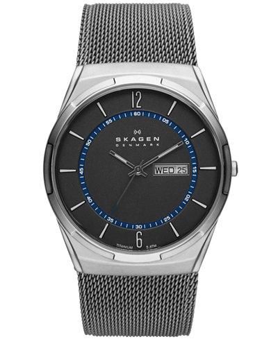 Skagen Men's Titanium Mesh Bracelet Watch 40mm SKW6078