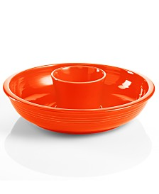 Fiesta Poppy Chip and Dip Set