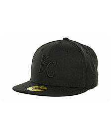 New Era Kids' Kansas City Royals MLB Black on Black Fashion 59FIFTY Cap