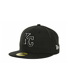 New Era Kids' Kansas City Royals MLB Black and White Fashion 59FIFTY Cap