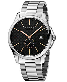 Gucci Unisex Swiss Automatic Stainless Steel Bracelet Watch 40mm YA126312