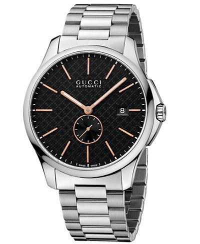 Gucci Unisex Swiss Automatic Stainless Steel Bracelet Watch 40mm YA126312