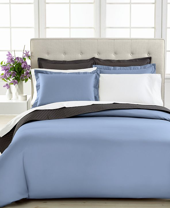 Charter Club  Solid 500 Thread Count Pima Cotton Duvet Cover, Created for Macy's