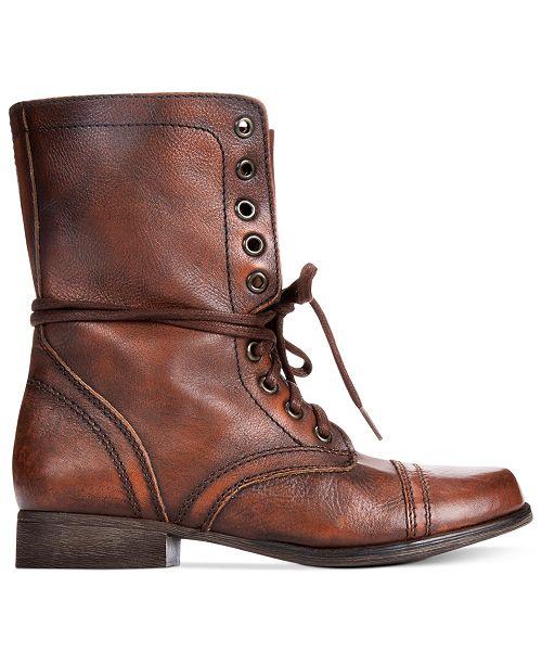 ba82a0bc99c Steve Madden Women s Troopa Combat Boots   Reviews - Boots - Shoes ...