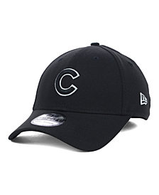 New Era Chicago Cubs Black and White Classic 39THIRTY Stretch-Fitted Cap