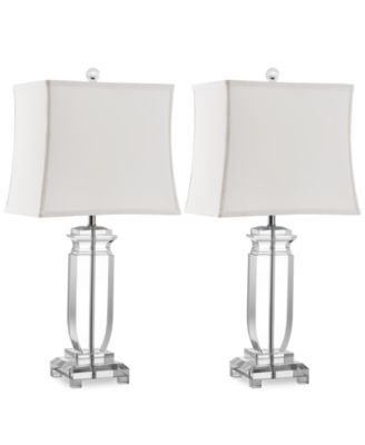 Safavieh set of 2 olympia crystal table lamps lighting s