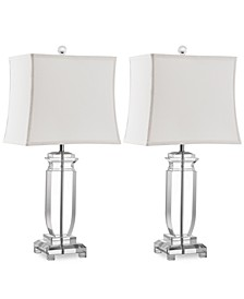 Set of 2 Olympia Crystal Table Lamps