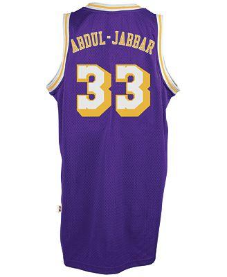 Adidas hombre 's Kareem Abdul Jabbar Lakers de los angeles retired Player