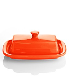 Fiesta Poppy XL Covered Butter Dish