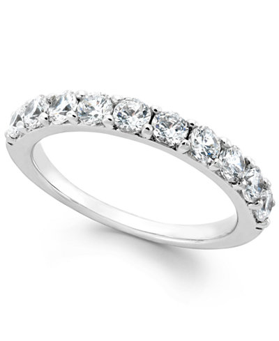 diamond ring in sterling silver 1 ct tw - Macys Wedding Rings