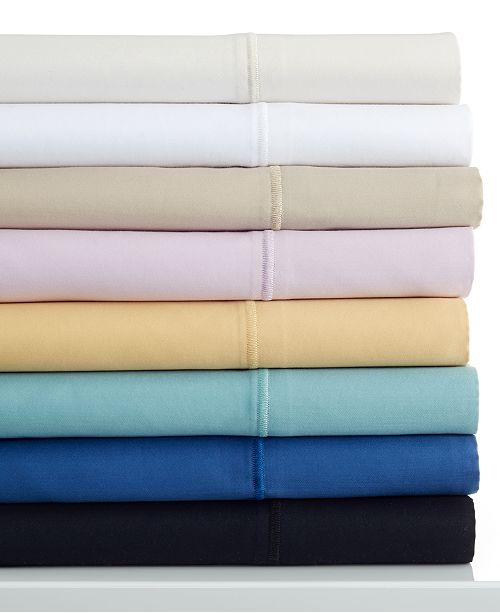 Charter Club  Simple Care Cotton Sateen 300 Thread Count Twin Sheet Set, Created for Macy's