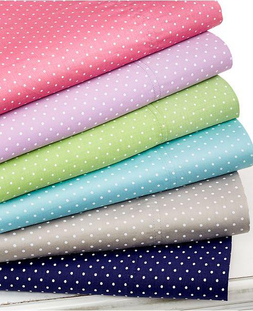 Elite Home Swiss Dot Twin XL 3-pc Sheet Set, 300 Thread Count 100% Cotton