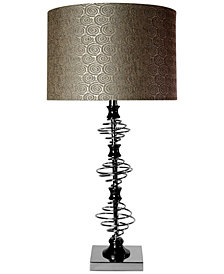 StyleCraft Orbital Chrome And Black Nickel Designed Table Lamp