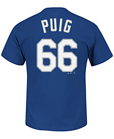 Majestic Men's Yasiel Puig Los Angeles Dodgers Official Player T-Shirt