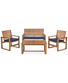 Blaise 4 Piece Outdoor Wood Set