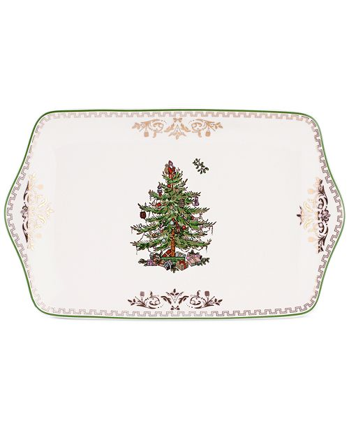 Spode Christmas Tree Dessert Tray