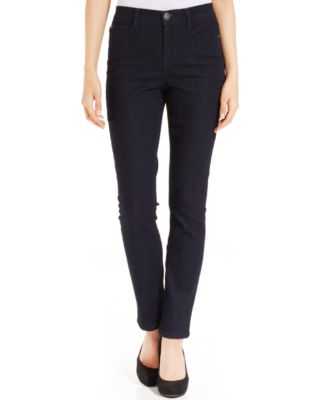Image of Style & Co Petite Tummy-Control Slim-Leg Jeans, Only At Macy's