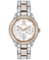Citizen Women s Chronograph Eco-Drive Silhouette Crystal Two-Tone Stainless  Steel Bracelet Watch 37mm cfc1e1183