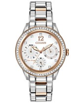 7d8b14224b9ef0 Citizen Women's Chronograph Eco-Drive Silhouette Crystal Two-Tone Stainless  Steel Bracelet Watch 37mm