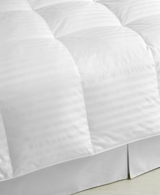 Lightweight Damask Stripe Down Full/Queen Comforter, 350 Thread Count 100% Cotton Cover