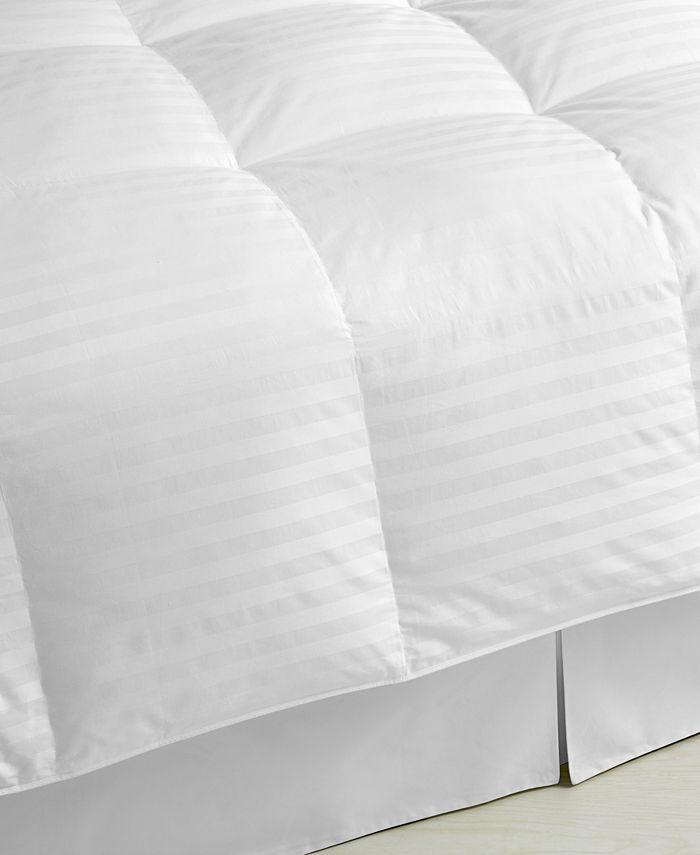 Blue Ridge - 350 Thread Count Damask Stripe Down Twin Comforter