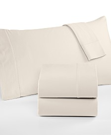 Martha Stewart Collection Luxury 100% Cotton Flannel 4-Pc. King Sheet Set, Created for Macy's