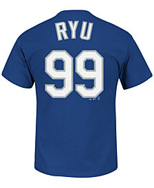 Majestic Men's Short-Sleeve Hyun-Jin Ryu Los Angeles Dodgers Player T-Shirt