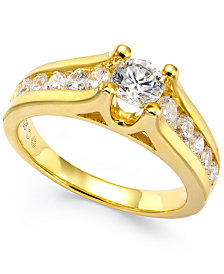 Certified Diamond Channel Engagement Ring in 14k Gold (1 ct. t.w.)