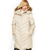 Kenneth Cole Chevron Quilted Down Coat