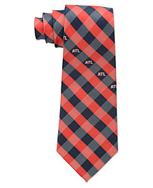 Eagles Wings Atlanta Hawks Checked Tie