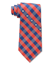 Eagles Wings New York Giants Checked Tie