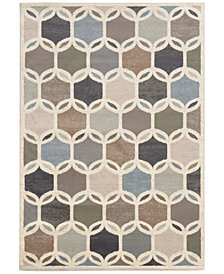 "CLOSEOUT! Oriental Weavers Warren Cove WC90W Intersection 3'3"" x 5'5"" Area Rug"