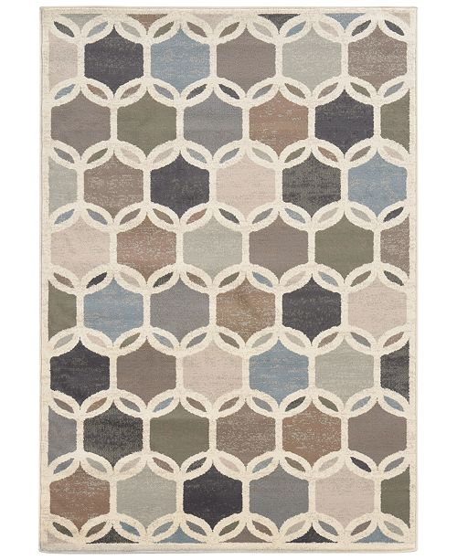"Oriental Weavers CLOSEOUT! Warren Cove WC90W Intersection 3'3"" x 5'5"" Area Rug"