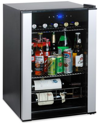 Wine Enthusiast Evolution . & Wine Enthusiast 2720318 18 Bottle Two Temperature Wine Cooler - Bar ...