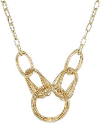 Image of INC International Concepts Multi-Ring Frontal Necklace