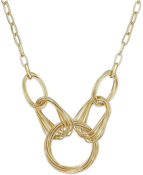 INC International Concepts I.N.C. Multi-Ring Frontal Necklace