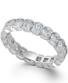 Diamond Sizable Box Eternity Band in 14k White Gold (2 ct. t.w.)