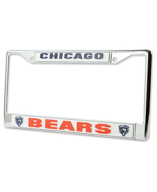 Rico Industries Chicago Bears Chrome License Plate Frame
