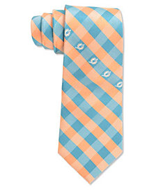 Eagles Wings Miami Dolphins Checked Tie