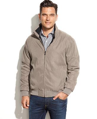 Weatherproof Fleece-Lined Microfiber Jacket