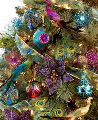 Holiday Lane Regal Peacock Tree Theme - Holiday Lane - For The ...