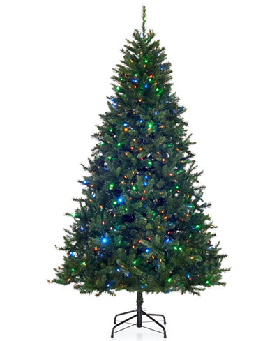 holiday lane 75 pre lit color changing led christmas tree - Led Christmas Tree