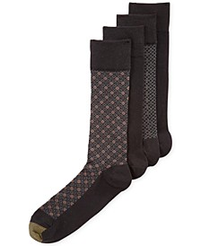 Men's Classic Mosaic Socks 4-Pack, Created for Macy's