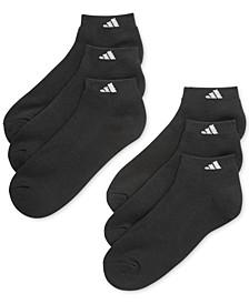 Men's Cushioned Athletic 6-Pack Low Cut Socks
